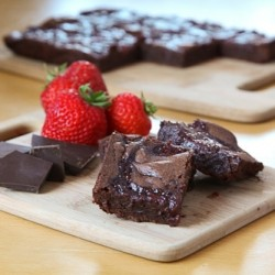 Balsamic Vinegar Strawberry Fudge Brownies