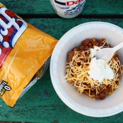 Beef Chili Frito Pie Recipe