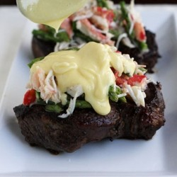 Beef Tenderloin with King Crab Asparagus and Bearnaise