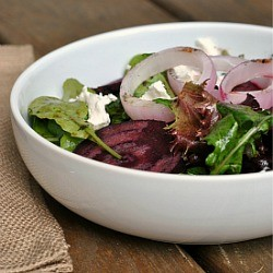 Beets, Goat Cheese Grilled Onion Salad Recipe