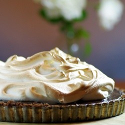 Bitter Chocolate Meringue Tart Recipe