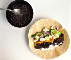 Black Bean Spaghetti Squash Tortillas Recipe