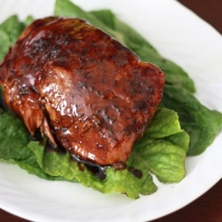 Brown Sugar and Balsamic Glazed Pork Roast