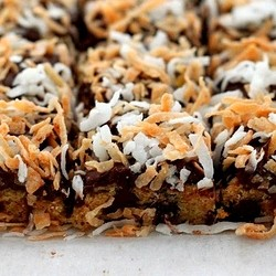 Chewy Toasted Coconut Blondies