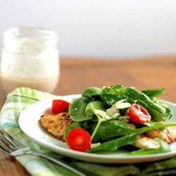 Chicken Milanese with Spinach Salad Recipe
