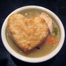 Chicken Pot Pie with Dumpling Hearts