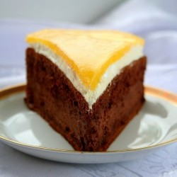 Chocolate Cake with Mango Recipe