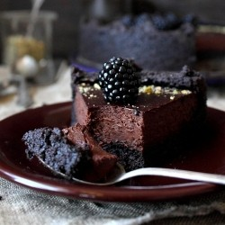 Chocolate Tart with Blackberries Recipe