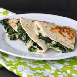 Creamy Spinach Quesadilla