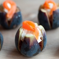 Figs with Cream Cheese and Smoked Salmon