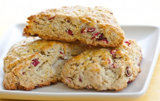 Fresh Cranberry and Orange Scones
