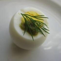Hard Boiled Eggs with Wasabi and Dill