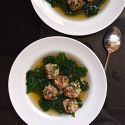 Herb-Flecked Meatballs and Kale in Broth Recipe