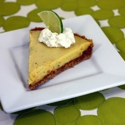 Key Lime Pie buttery graham cracker crust …