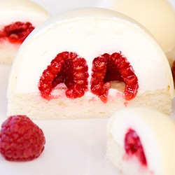 Lemon Mousse Raspberry Bombe
