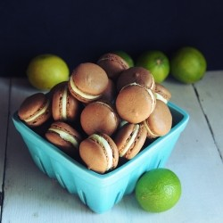 Lime Rum Chocolate Macarons Recipe