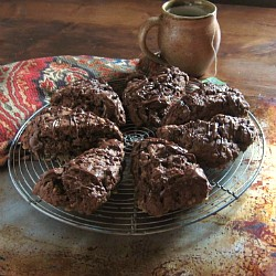 Nutella Toffee Chocolate Scones Recipe