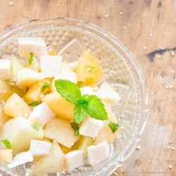Peach Apricot Macedonia with Mint Recipe