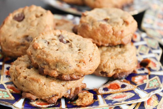 Peanut Butter Chocolate Chip Cookies with Rice Crispies Recipe