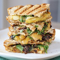Pear Blue Cheese Caramelized Onion Arugula Panini Recipe