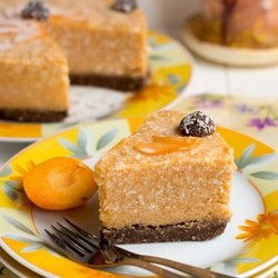 Raw Apricot Ice Cream Cake Recipe