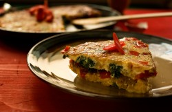 Red Bell Pepper Frittata Recipe