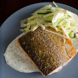 Salmon with Herbed Sauce