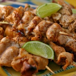 Salsa Lime Chicken Skewers