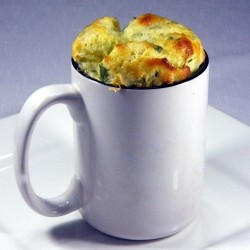 Single Serving Spinach Cheese Souffle