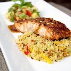Spice Crusted Salmon with Soy Glaze Recipe