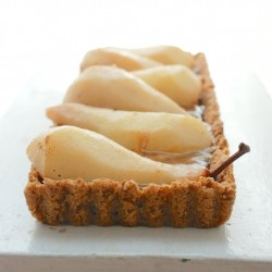 Spiced Pear Chocolate-Caramel Tart Recipe