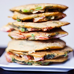 Spicy Chickpea Vegetable Pancakes