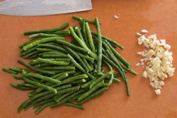 String Beans with Hoisin Sauce