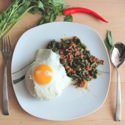 Thai Basil with Minced Meat Recipe