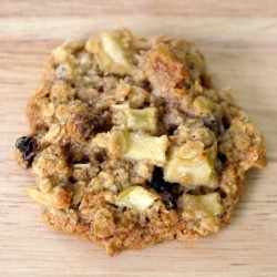 Apple Walnut Raisin Oat Cookies