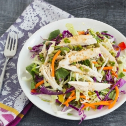 Asian Rainbow Chicken Salad Recipe