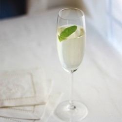 Basil Vodka Fizz Cocktail