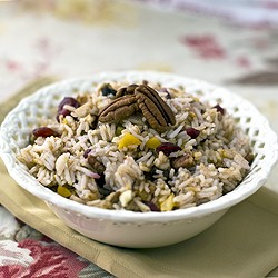 Basmati Rice with Cranberries Apricots Dates and Pecans