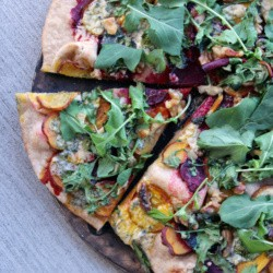 Beets Blue Cheese Arugula Walnut Pizza