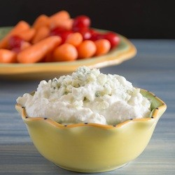 Blue Cheese Dip made with Greek Yogurt Recipe