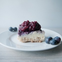 Blueberry Swirl Ricotta Cheesecake Recipe