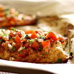 Broiled Salmon with Fresh Tomato Salsa