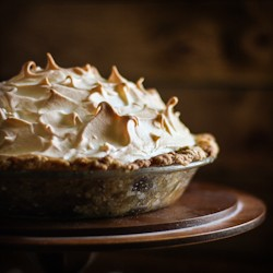 Butterscotch Pie with Baked Meringue
