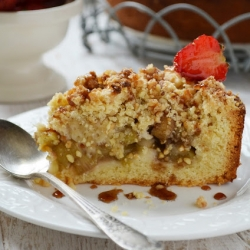 Cake with Rhubarb Recipe