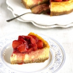 Cheesecake with Strawberry Sauce Recipe