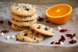 Chewy Cranberry Orange Cookies
