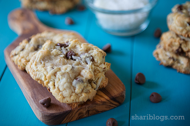 Chocolate Coconut Almond Cookies Recipe