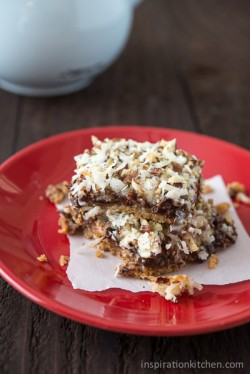 Chocolate Coconut Pecan Cookie Bars Recipe