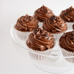 Chocolate Cupcakes with Whipped Ganache Frosting Recipe