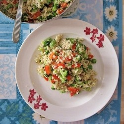 Couscous Broccoli BellPepper Salad Recipe